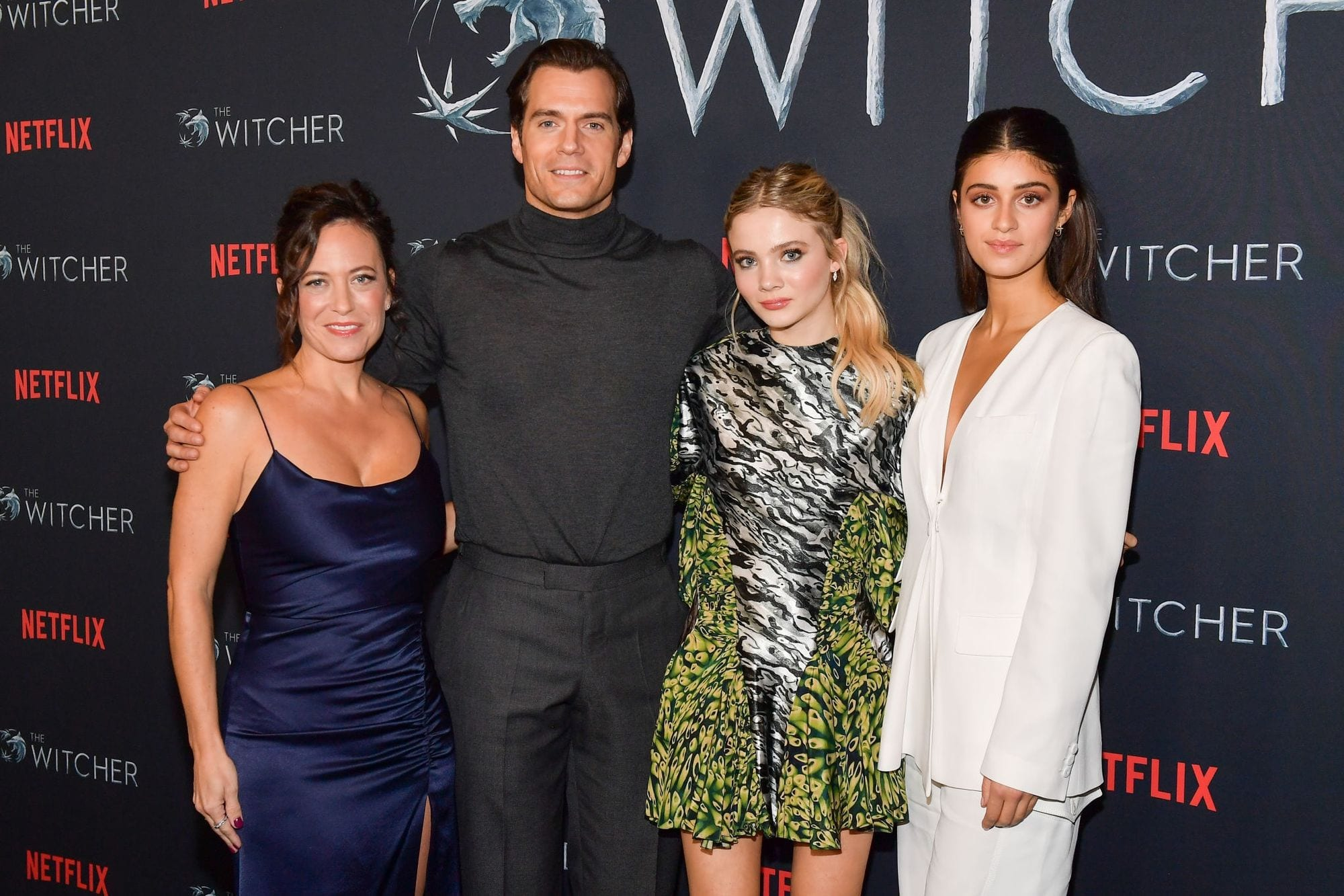 Lauren Schmidt, Henry Cavill, Freya Allan and Anya Chalotra The Witcher Fan Experience Los Angeles
