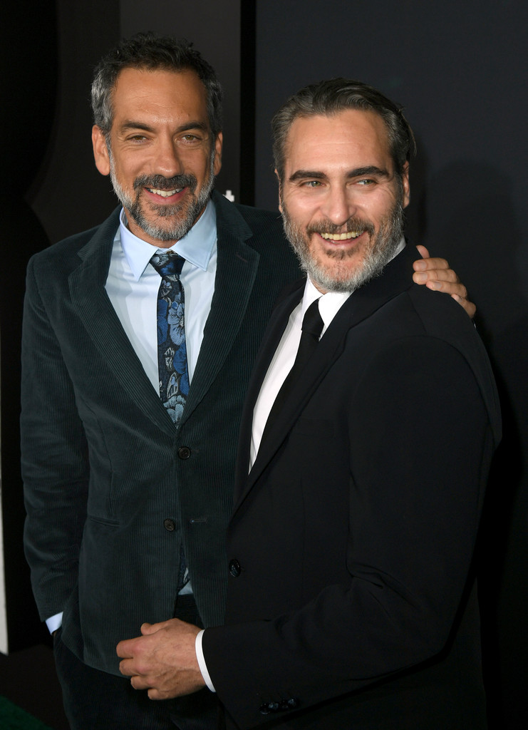 """Todd Phillips and Joaquin Phoenix Premiere Of Warner Bros Pictures """"Joker"""" in Hollywood, Los Angeles California - Arrivals"""