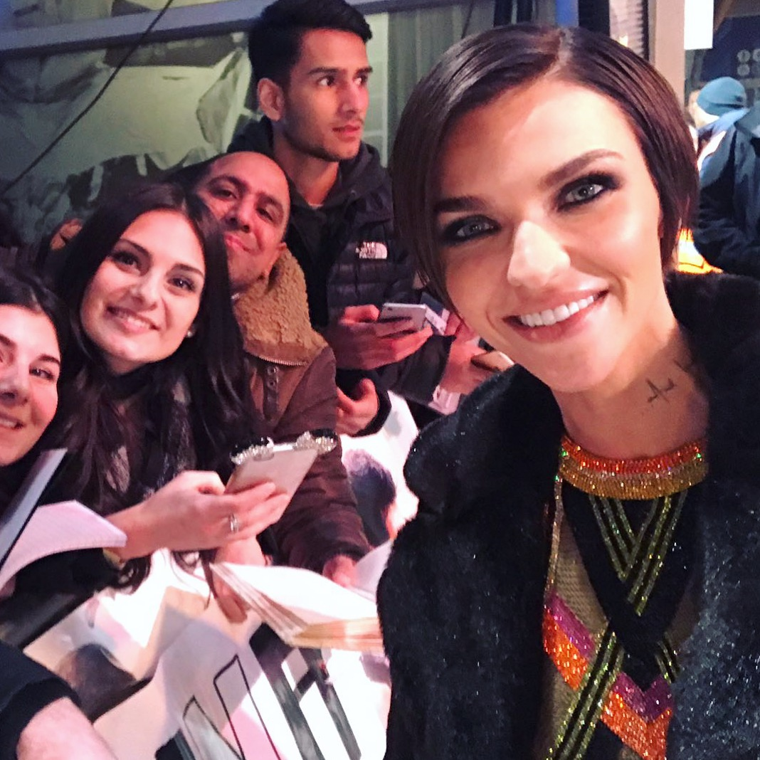 Ruby Rose fans xxx return of Xander cage London film premiere