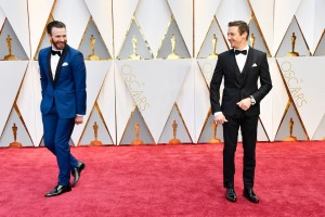 Chris Evans and Jeremy Renner 89th Academy Awards The Oscars 2017 Red Carpet Arrivals