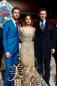 Dan Stevens, Emma Watson and Luke Evans Beauty and the Beast China Premiere Shanghai Disneyland