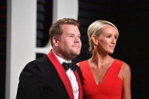 James Corden and Julia Carey 2017 Vanity Fair Oscars After Party Red Carpet