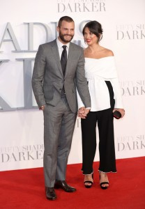 Jamie Dornan and Amelia Warner Fifty Shades Darker UK Film Premiere London Odeon Leicester Square Red Carpet Arrivals