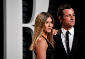 Jennifer Aniston and Justin Theroux 2017 Vanity Fair Oscars After Party Red Carpet