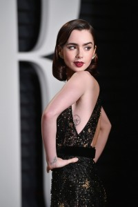 Lily Collins 2017 Vanity Fair Oscars After Party Red Carpet