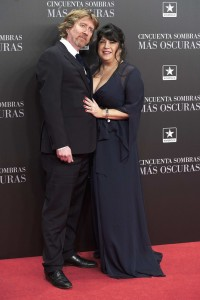Niall Leonard and E.L. James Cincuenta Sombras Mas Oscuras Fifty Shades Darker Film Premiere Madrid Spain