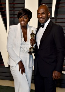 Viola Davis and Julius Tennon 2017 Vanity Fair Oscars After Party Red Carpet