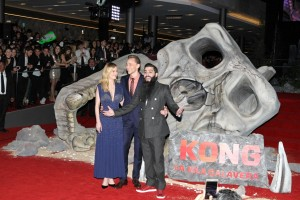 Brie Larson, Tom Hiddleston and Jordan Vogt-Roberts Kong: Skull Island Mexico City Premiere