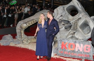 Brie Larson and Tom Hiddleston Kong: Skull Island Mexico City Premiere