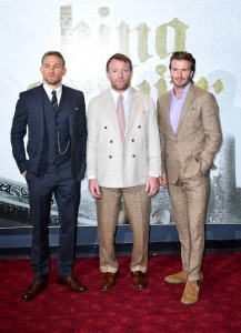 Charlie Hunnam, Guy Ritchie, David Beckham