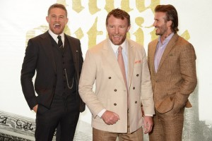 Charlie Hunnam, Guy Ritchie and David Beckham