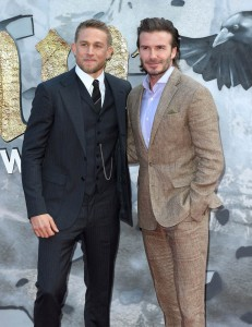 Charlie Hunnam and David Beckham