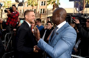 Charlie Hunnam and Djimon Hounsou King Arthur: Legend of the Sword Los Angeles Premiere