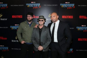 Chris Sullivan, Michael Rooker and Dave Bautista Disney Marvel Guardians of the Galaxy Vol. 2 New York City Screening Premiere