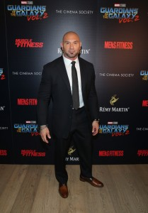 Dave Bautista Disney Marvel Guardians of the Galaxy Vol. 2 New York City Screening Premiere