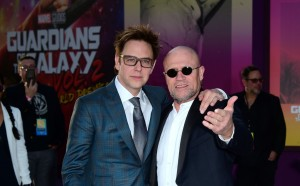 James Gunn and Michael Rooker Marvel Disney Guardians of the Galaxy Vol. 2 Los Angeles World Premiere