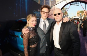 Jennifer Holland, James Gunn and Michael Rooker Marvel Disney Guardians of the Galaxy Vol. 2 Los Angeles World Premiere