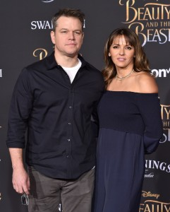 Matt and Luciana Damon Disney's Beauty and the Beast World Premiere Los Angeles Hollywood