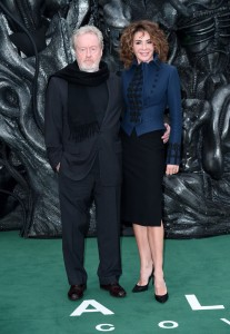 Ridley Scott and Giannina Facio Alien: Covenant World Premiere London