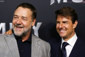 Russell Crowe and Tom Cruise Universal's The Mummy (2017) Australian Film Premiere Sydney
