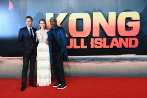 Tom Hiddleston, Brie Larson and Samuel L. Jackson Kong: Skull Island London Premiere European