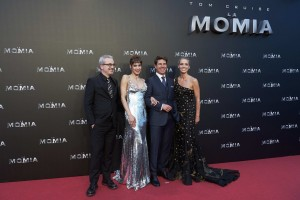 Alex Kurtzman, Sofia Boutella, Tom Cruise and Annabelle Wallis The Mummy Madrid Premiere Spain La Momia