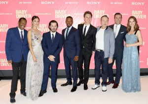 Cast and Director Baby Driver European Premiere Leicester Square London