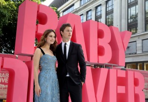 Lily James and Ansel Elgort Baby Driver European Premiere Leicester Square London