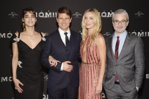 Sofia Boutella, Tom Cruise, Annabelle Wallis and Alex Kurtzman The Mummy Paris Premiere La Momie