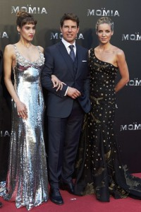 Sofia Boutella, Tom Cruise and Annabelle Wallis