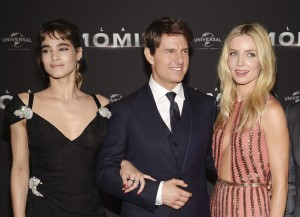 Sofia Boutella, Tom Cruise and Annabelle Wallis The Mummy Paris Premiere La Momie