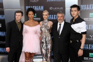 Cast of Valerian Valerian and the City of a Thousand Planets World Premiere Hollywood Los Angeles