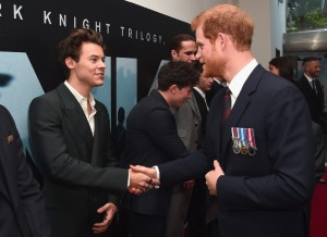 Harry Styles meets Prince Harry at the world premiere of Dunkirk in Leicester Square, London