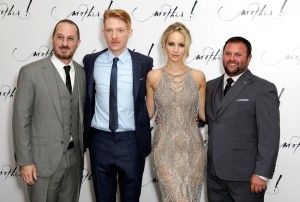 Darren Aronofsky, Domnhall Gleeson, Jennifer Lawrence and Scott Franklin Mother! UK Premiere London