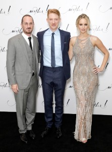 Darren Aronofsky, Domnhall Gleeson and Jennifer Lawrence Mother! UK Premiere London
