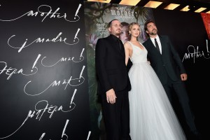 Darren Aronofsky, Jennifer Lawrence and Javier Bardem Mother! New York Premiere
