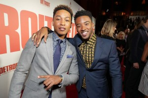Jacob Latimore and Algee Smith Detroit World Premiere Michigan