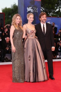 Michelle Pfeiffer, Jennifer Lawrence and Javier Bardem Mother! Premiere during 74th Venice Film Festival Gala Screening Red Carpet Arrivals