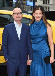 Steven Soderbergh and Jules Asner Logan Lucky UK Premiere London