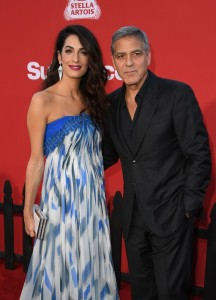 Amal and George Clooney Suburbicon Los Angeles Premiere