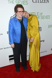 Billie Jean King and Andrea Riseborough Battle of the Sexes New York Premiere