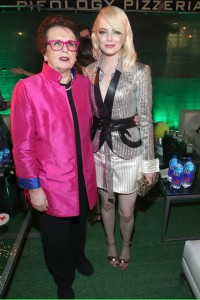 Billie Jean King and Emma Stone Battle of the Sexes Los Angeles Premiere