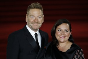 Kenneth Branagh and Lindsay Brunnock Murder on the Orient Express World Premiere London