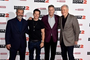 Mel Gibson, Mark Wahlberg, Will Ferrell and John Lithgow Daddy's Home 2 London Premiere