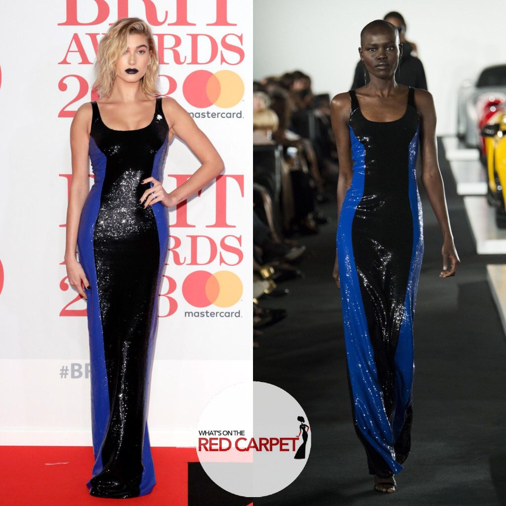 Hailey baldwin fashion style Brit Awards brits 2018 Ralph Lauren