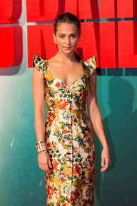 Alicia Vikander Tomb Raider European Premiere London