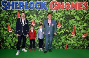 David Furnish, Elton John and sons attend Sherlock Gnomes Family Gala Screening in London