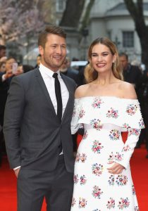 Glen Powell Lily James The Guernsey Literary and Potato Peel Pie Society World Premiere London Red Carpet