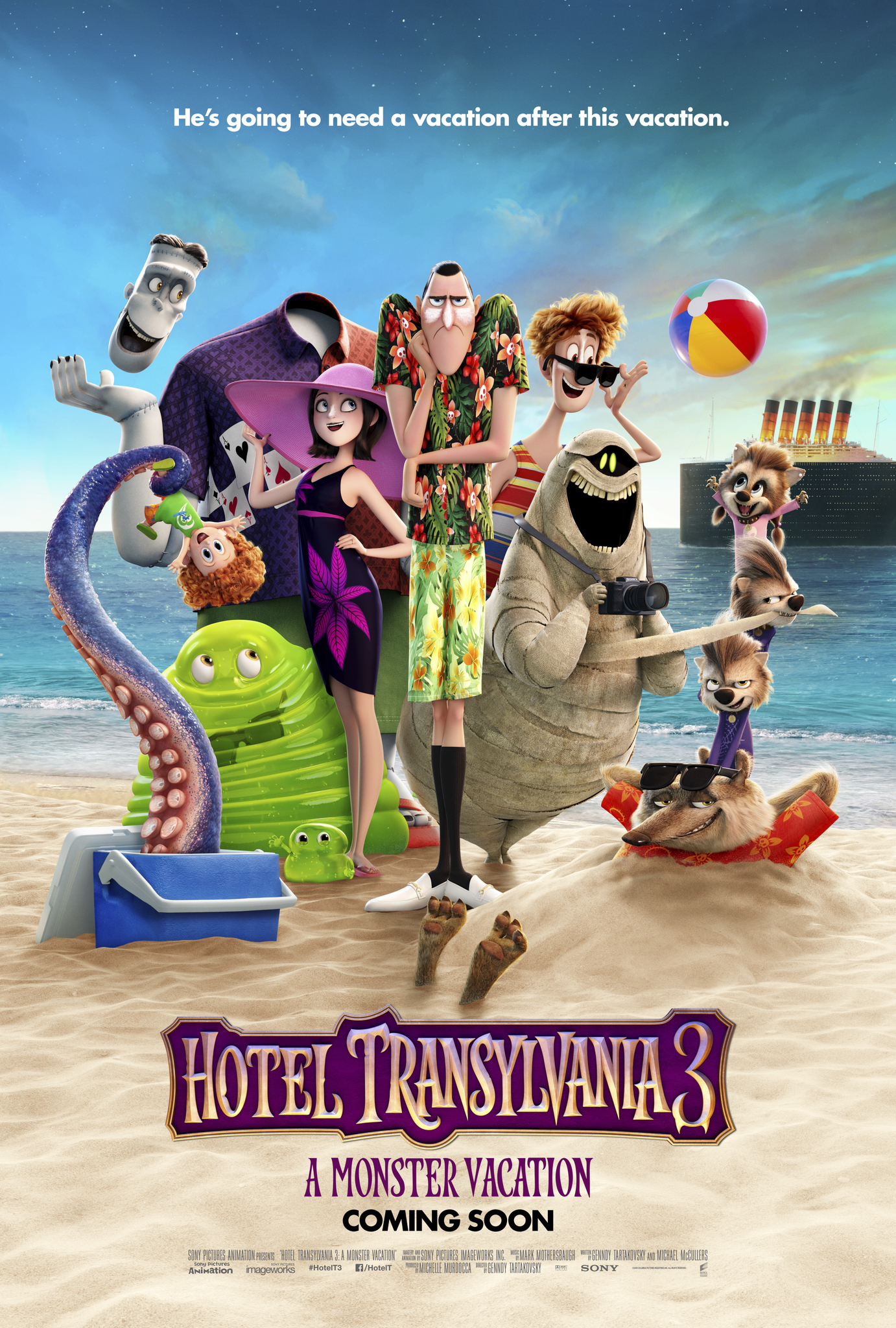 Hotel Transylvania 3 Monster Vacation Poster