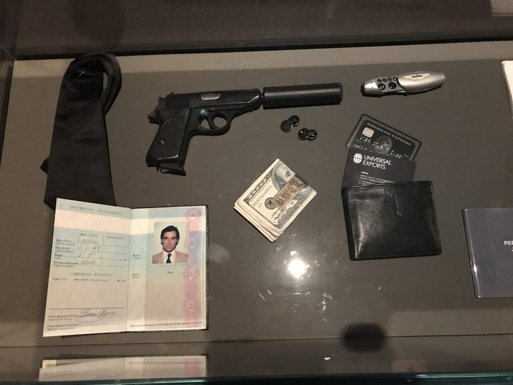 james Bond props passport pierce brosnan